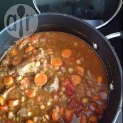 Soupe marocaine au veau et aux lentilles