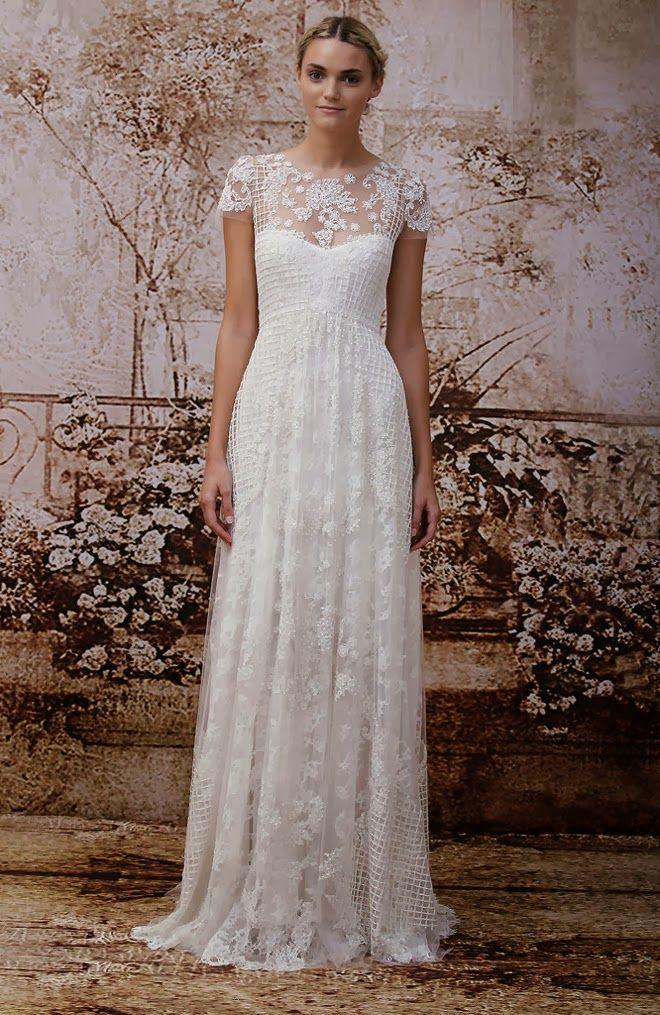 Monique Lhuillier Fall 2014 Bridal Collection - Belle the Magazine . The Wedding Blog For The Sophisticated Bride