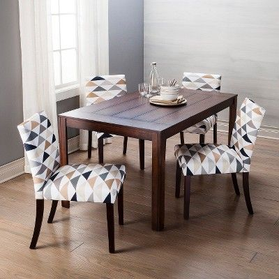 Andres Distressed Dining Table - Espresso