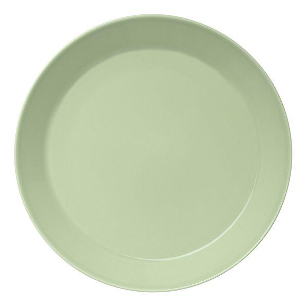 Celadon green Teema plate by Iittala.