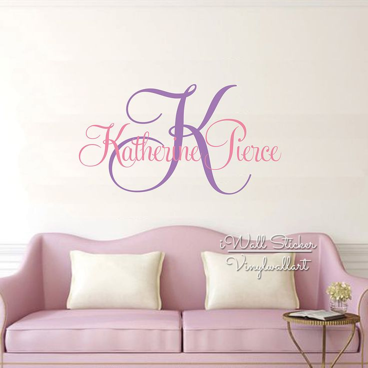 Best Wall Decals Images On Pinterest Kids Rooms Name Wall - Monogram wall decals cheap