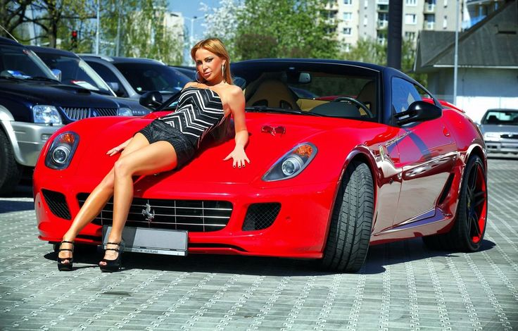 Ferrari -super  cars and girls