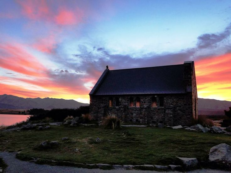 Church of the Good Shepherd. Lake Tekapo, NZ. By Kieron MacleanSunsets Photos, Photos Challenges