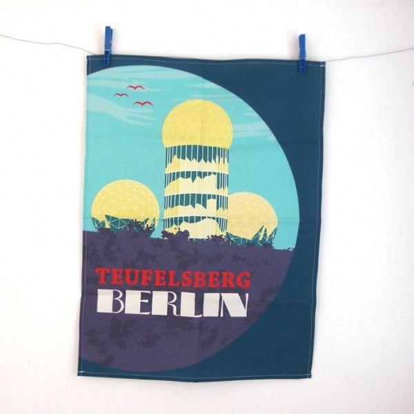 Teufelsberg Berlin - jetzt auch in der Küche...für Berliner, Exilberliner und Krimifans  http://www.s-wert-design.de/product/geschirrtuch-teufelsberg/