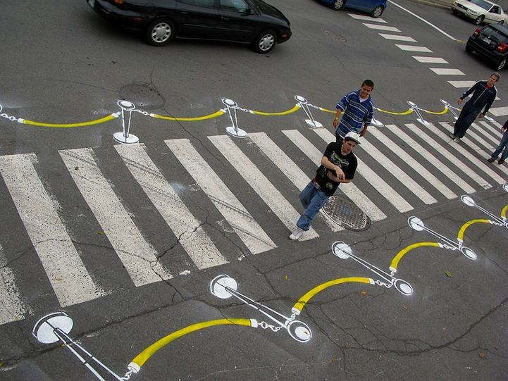 Artist Playfully Transforms Street Markings Into Works of Art - My Modern Metropolis
