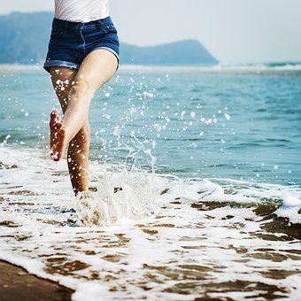 Nahý, Beach, Přestávka, Klid, Chlad