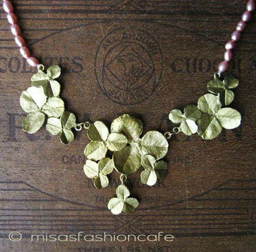【送料無料】MichaelMichaud (マイケルミショー)  真珠 クローバー  ネックレスMADE IN USA 【在庫あります】【楽天市場】