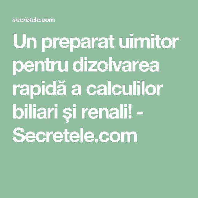 Un preparat uimitor pentru dizolvarea rapidă a calculilor biliari și renali! - Secretele.com