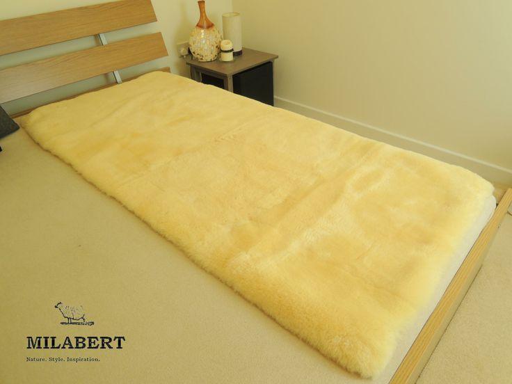 100 Genuine Medical Rectangular Sheepskin Bed Pad Mat Underlay Mattress