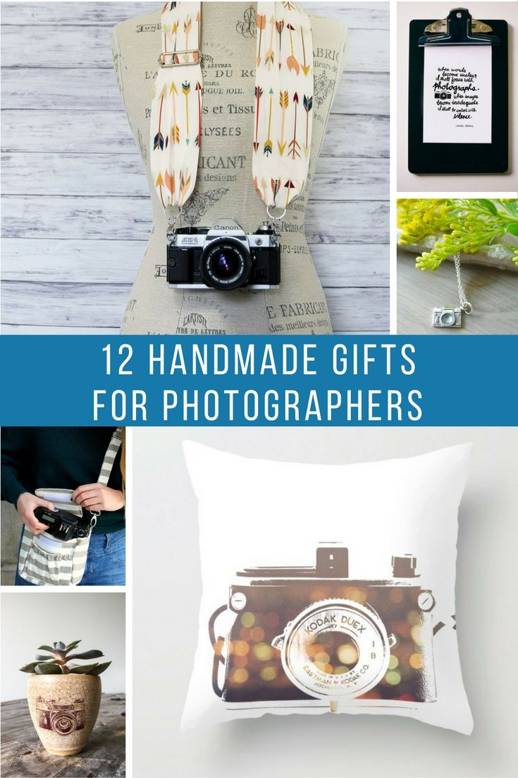 I was recently searching for gifts for family & friends, I came across a  number of super rad gifts for photographers or camera lovers (um... no, i  promise I wasn't shopping for myself...much...) I can't help but share some  of my favorite handmade gifts for photographers whether they are  professional or hobbyists. These gifts are fun and perfect for anyone who  loves camera!   here are some of my favorites:  1. Scarf Camera Strap - This camera strap looks so comfy and is SUPER cute!  2…