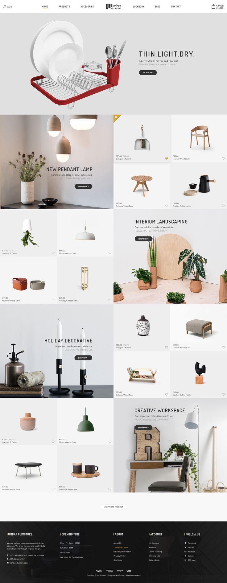 Umbra - Furniture & Interior PSD Template on Behance