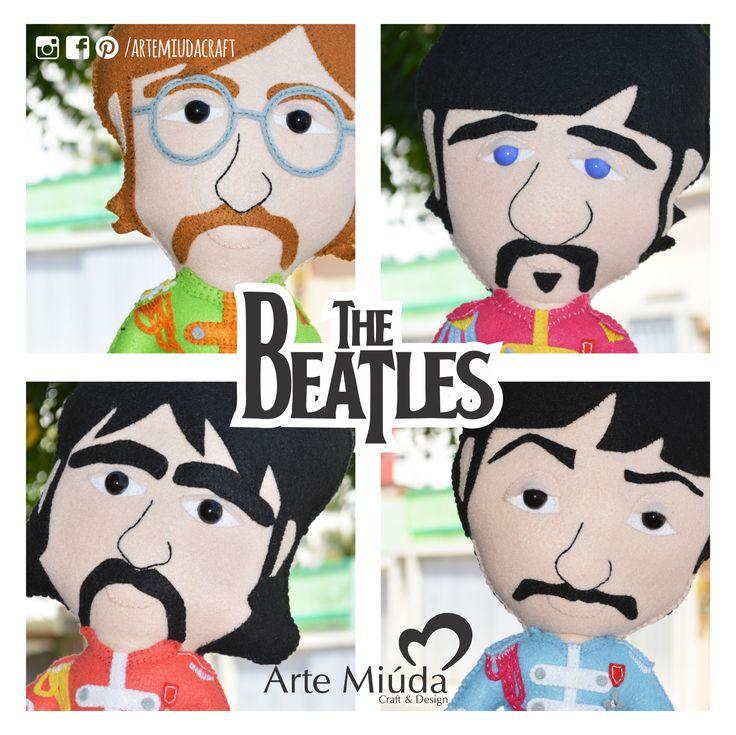 Bonecos The Beatles #doll #boneco #thebeatles #feltro #felt #artemiudacraft