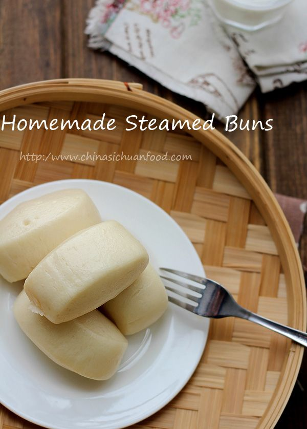 Chinese Steamed Buns with detailed instruction of making the basic dough.