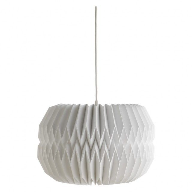 KURA Large white paper lamp shade D40 x H25cm
