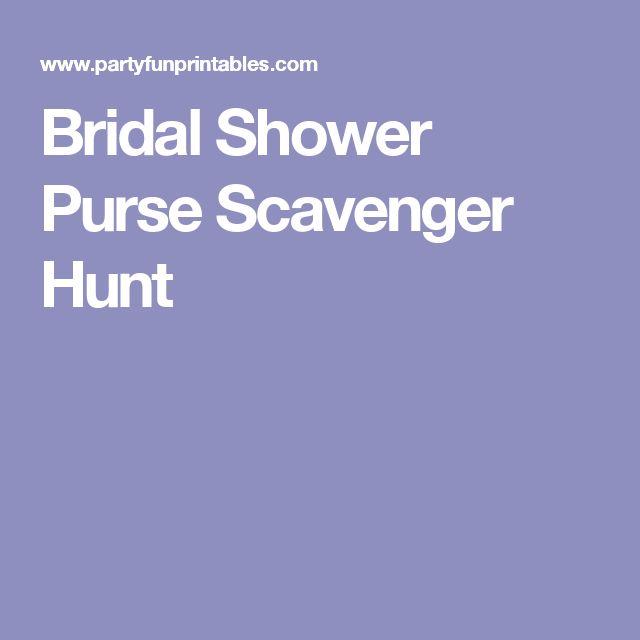 Bridal Shower Purse Scavenger Hunt