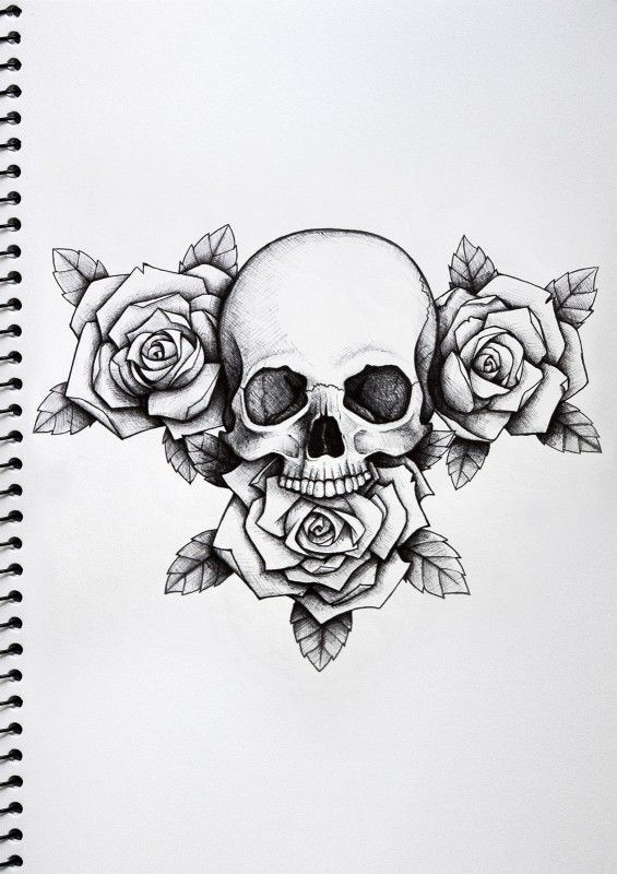 (via Skull and Roses Tattoo | Nick Davis | Artist)