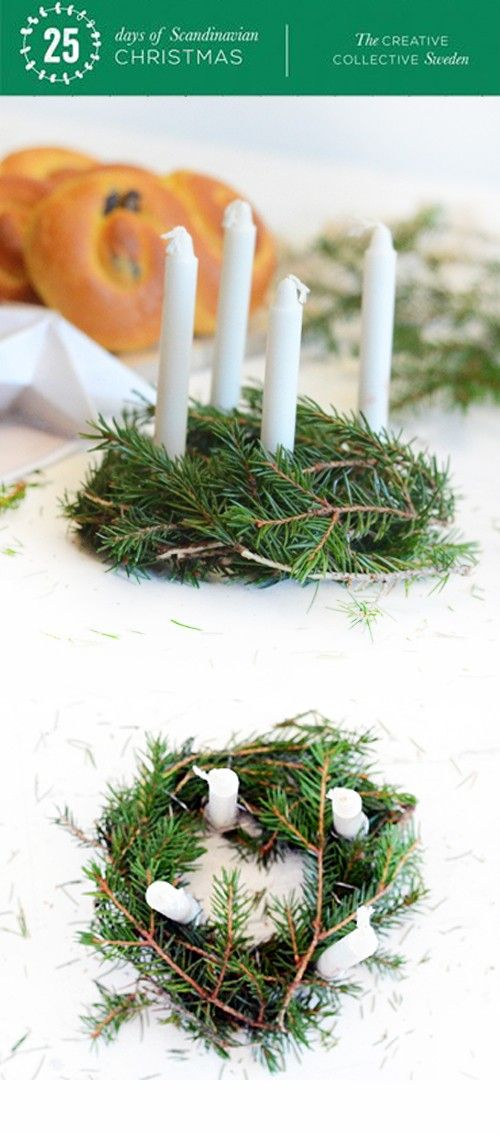 willowday: Day 13: Make Lucia Buns and Lucia Centerpiece Crowns