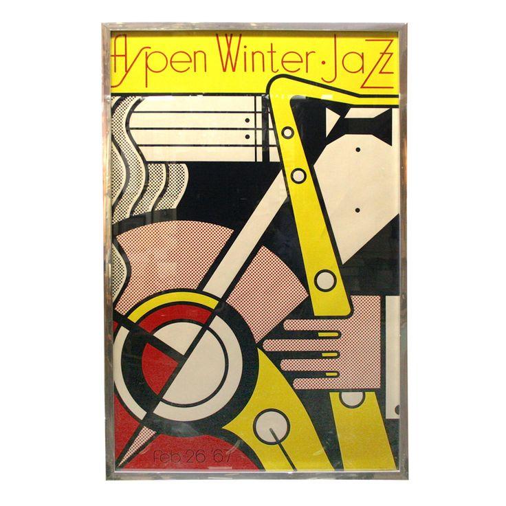 Poster of Aspen Jazz by Roy Lichtenstein
