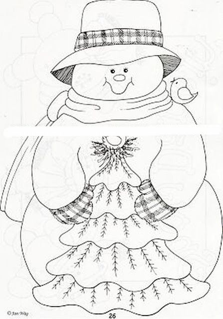 Dibujos y Plantillas para imprimir: Muñecos de Nieve … | Blusas ...