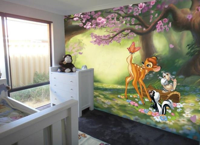 The 25 best disney wall murals ideas on pinterest for Disney wall mural uk