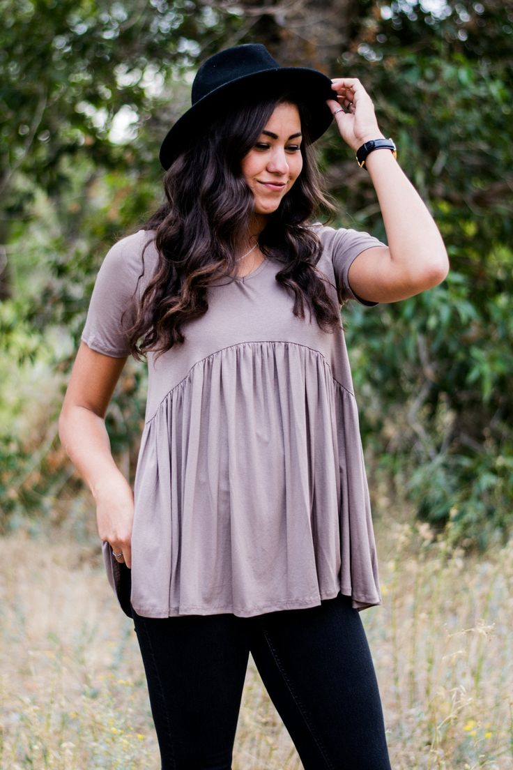 """Fits true to size, loose fit Model is 5'10"""" and wearing a small 95% Rayon 5% Spandex"""