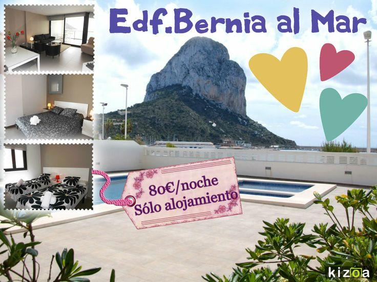 Oferta especial San Valentin en #Calpe Apartamento para 2 personas en 1ª línea del mar #CostaBlanca
