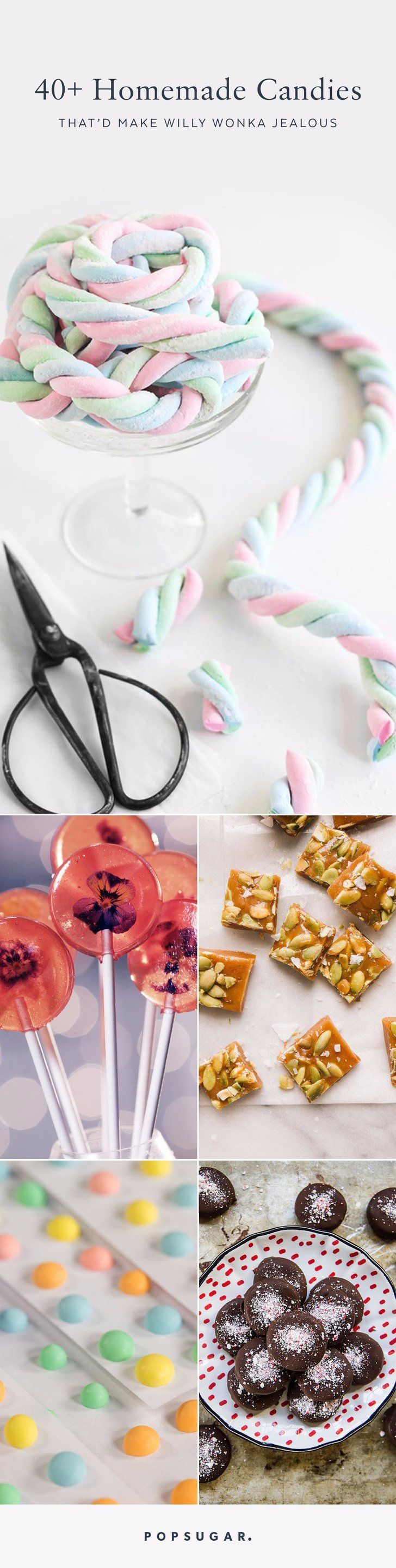 40+ Homemade Candies That'd Make Willy Wonka Jealous August 31, 2017 by NICOLE PERRY superscrumptious homemade candy recipes