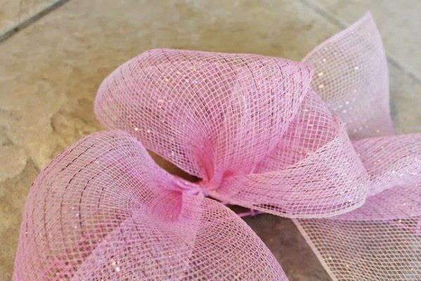 deco mesh wreath tutorial step by step instructions step 2 attach the mesh to the base