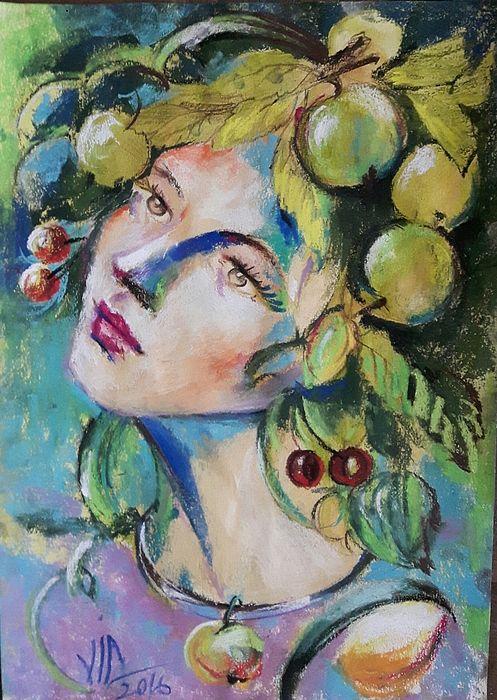 Summer Girl by Vali Irina Ciobanu, painting with pastels