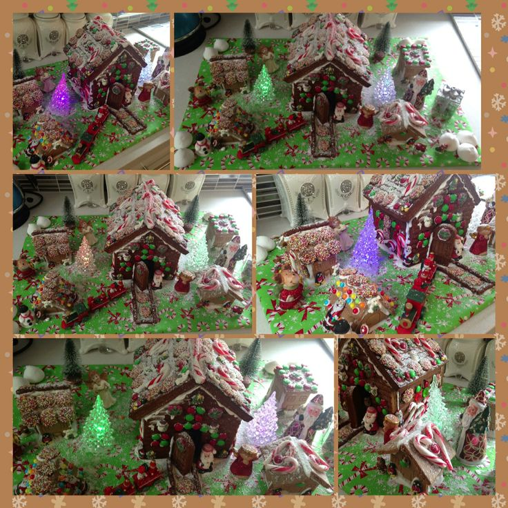 Not kid related, but this is our 2013 gingerbread village :)