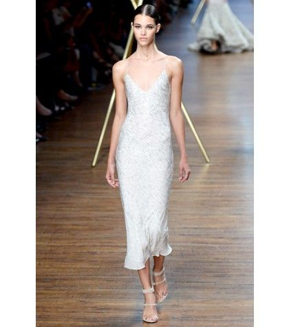 #jasonwu - beaded silk-crepe dress