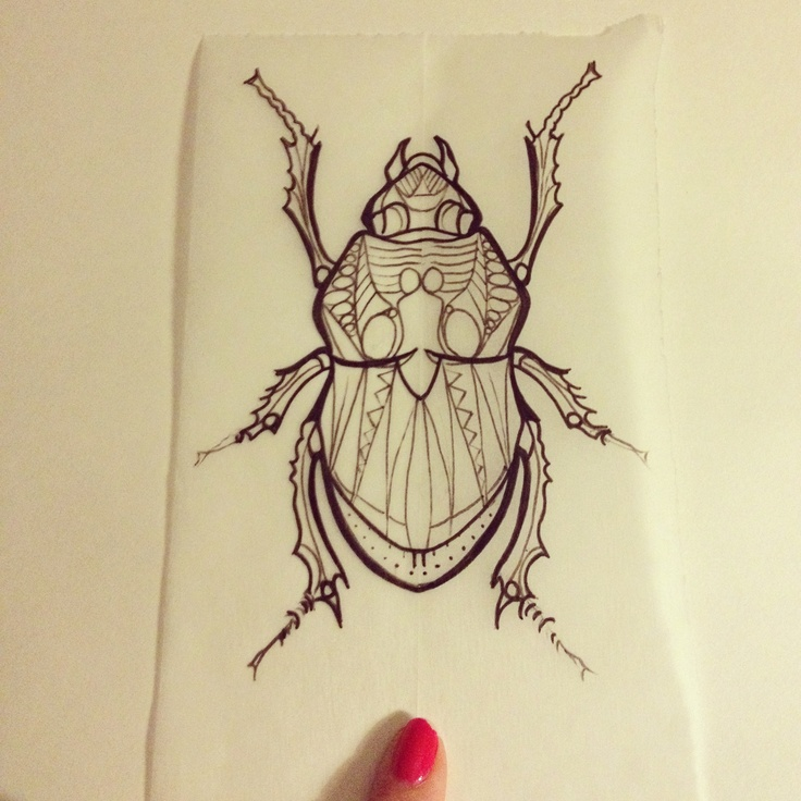 Beetle tattoo by Stacy...