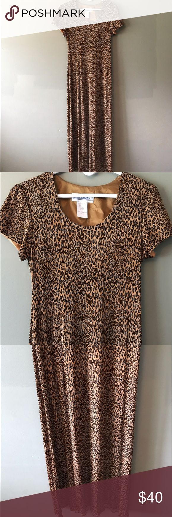 Jessica Howard Animal Print Long Sequin Dress! Jessica Howard Animal Print Sequin Dress. Size 12. Excellent condition! Gold, brown, black, and glitter! This is a steal! Grab it before it's gone. I found this in my mom's closet. Gorgeous dress!! Jessica Howard Dresses Maxi