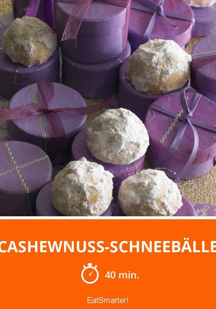 Cashewnuss-Schneebälle