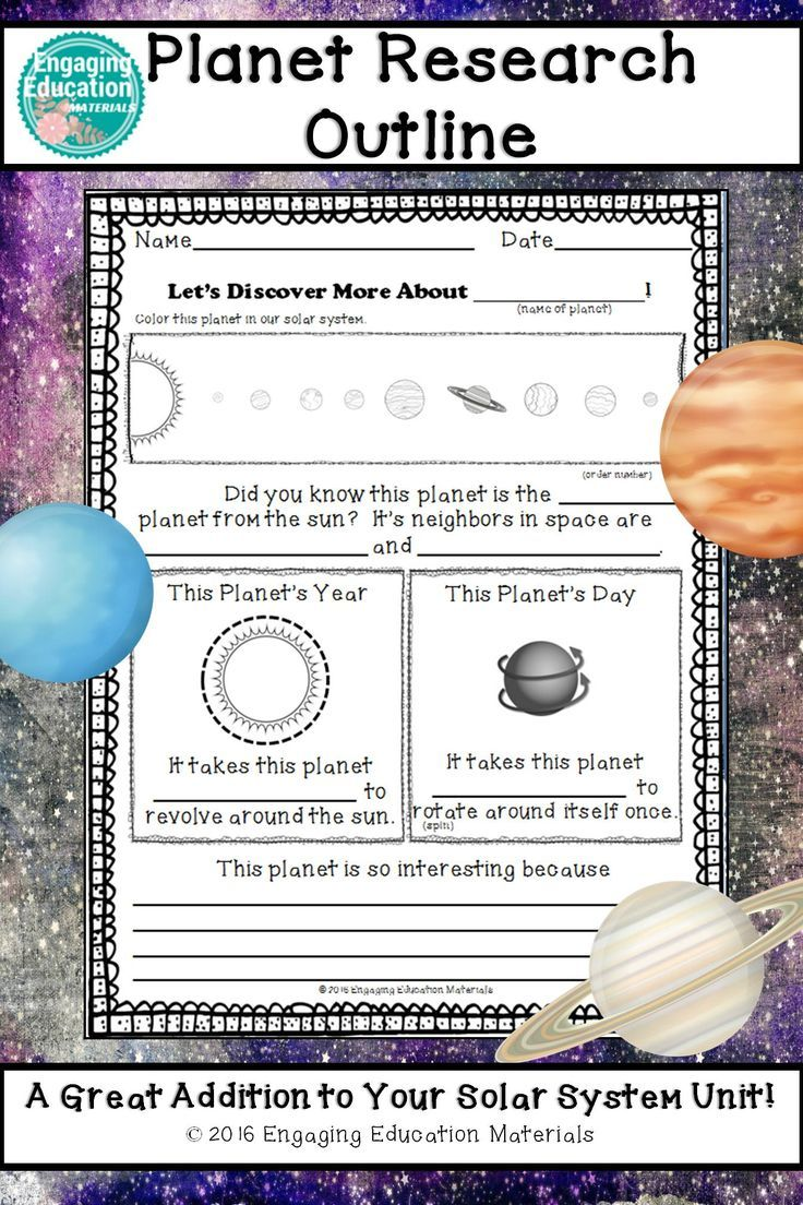 planet research paper outline