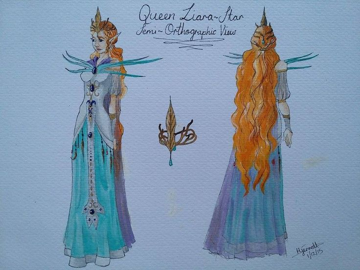 Entry 52 'Queen Liara-Star' in watercolour by Hecate Jerrett #fantasy #art