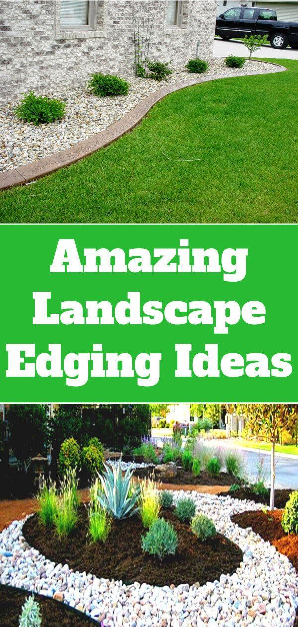 Amazing Landscape Edging Ideas Landscape Ideas Tips Landscape Edging Landscaping Around Trees Large Backyard Landscaping