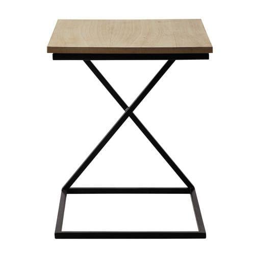 Beistelltisch FELIX aus Metall und Holz, B 40cm