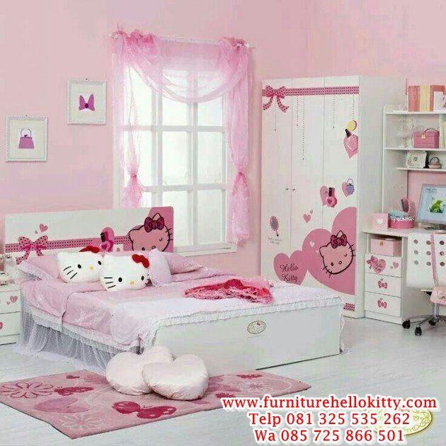 Desain Tempat Tidur Hello Kitty Bentuk Set Kamar Tidur Hello Kitty