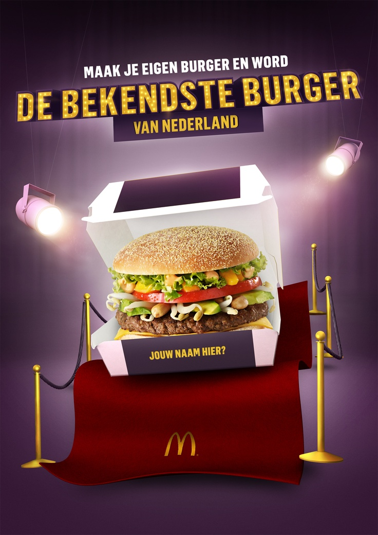 Tribal DDB Amsterdam and MediaMonks allow you to create your own burger and become the most famous 'burger' (citizen) in Holland. Choose your ingredients, invent a great name and you could be on the McDonald's menu – and on your way to stardom.