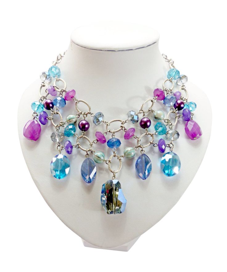 Violet blue necklace - www.madansonline.com
