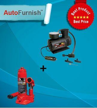 Autofurnish Car Accessories Tyre Maintenance Combo offer: Car air compressor 300 psi, 2 ton jack Shop Now Stock Limited http://www.autofurnish.com/autofurnish-tyre-maintenance-combo-300-psi-2-ton-jack