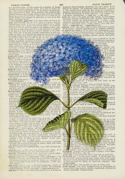 blue hydrangea with wording printable