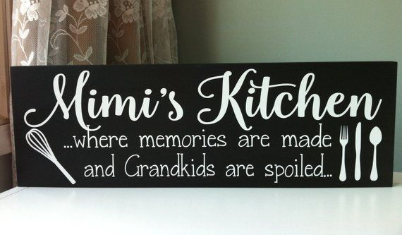 Mimi Gift Gifts For Mimi Mimi Sign Personalized Kitchen Sign