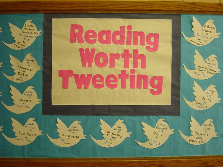 My middle school media center bulletin board - Rita Aubert