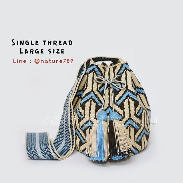 Sold งานละเอียดที่สุดของงานถักวายู ต้องรุ่นนี้ลย Single Thread !!!! #กดเลื่อนดูรูปเพิ่มได้เลยค่ะ Single Thread เป็นรุ่นที่ใช้เทคนิคการถักแบบไหมเส้นเดียวทั้งใบค่า. ✔️งานที่ออกมาจะเนี้ยบ ละเอียด แน่นและนน.เบากว่ารุ่นด้ายคู่ครึ่งนึงเลยค่า ✔️งานละเอียดทั้งใบ ถักเก็บขอบกระเป๋าเรียบร้อย ✔️ถักไหมพันรอบหัวพู่เรียบร้อย ✔️รุ่นนี้จะเกิดขนที่กระเป๋ายากกว่าด้ายคู่จ้า ✔️สูงประมาณ 11-12 นิ้วจ้า ✔️รูปจากสินค้าจริง ❣สอบถามเพิ่มเติมได้ที่ Line : @ nature789 (มี@จ้า) . . . . #color...