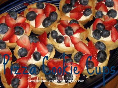 sugar cookie cups with fruit