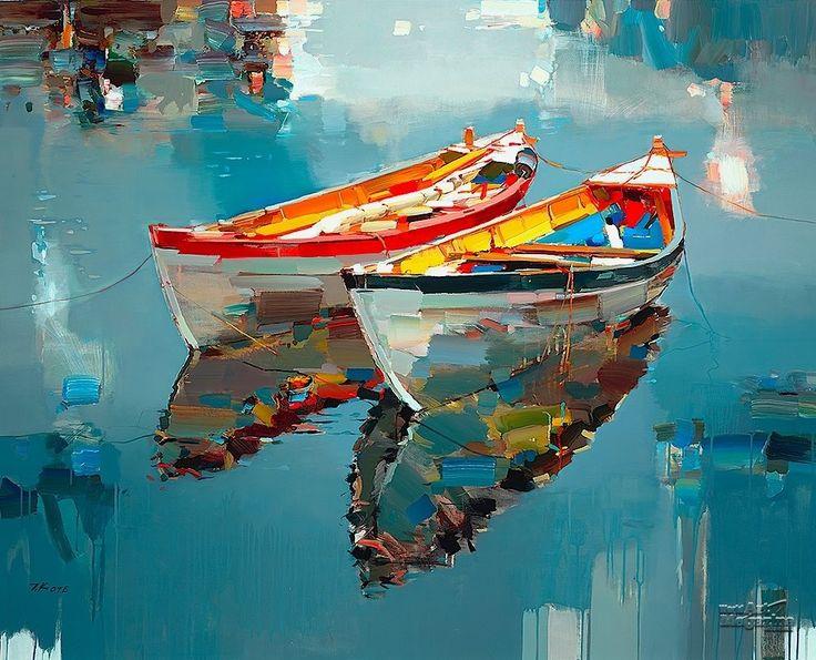 Resultado de imagen para pinterest+pinturas de oleo de botes