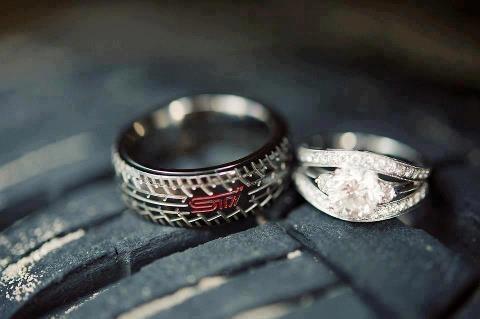 Sti Tire Tread Wedding Ring Car Mods Accessories