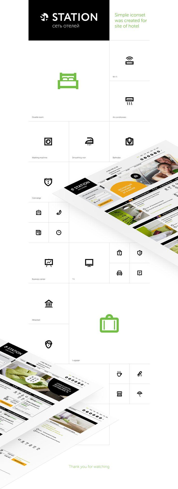 Iconset / Hotel Station on Behance